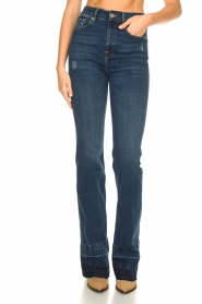 7 For All Mankind :  Wide flared jeans Lisha | blue - img4