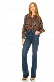 7 For All Mankind :  Wide flared jeans Lisha | blue - img3