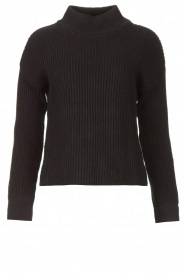Be Pure |  Knitted sweater Billy | black  | Picture 1