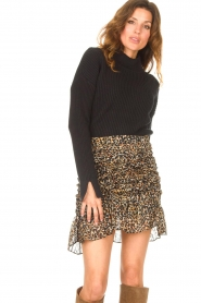 Be Pure |  Knitted sweater Billy | black  | Picture 4