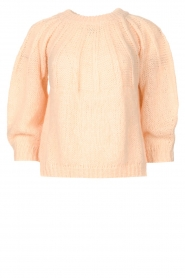 Be Pure |  Alpaca sweater with puff sleeves Lucie | nude  | Picture 1