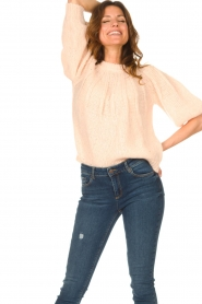Be Pure |  Alpaca sweater with puff sleeves Lucie | nude  | Picture 2