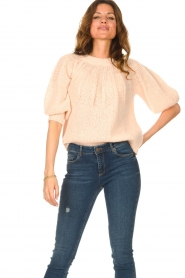 Be Pure |  Alpaca sweater with puff sleeves Lucie | nude  | Picture 4
