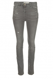 ELISABETTA FRANCHI |  Skinny jeans with paint splatter Rita | grey  | Picture 1