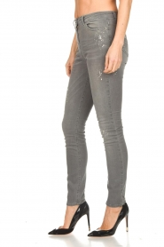 ELISABETTA FRANCHI |  Skinny jeans with paint splatter Rita | grey  | Picture 4