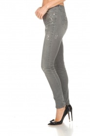 ELISABETTA FRANCHI |  Skinny jeans with paint splatter Rita | grey  | Picture 5