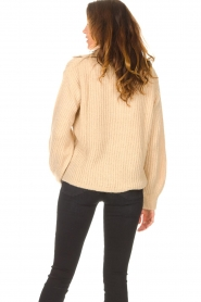 Be Pure |  Knitted sweater with polo collar Lola | camel  | Picture 7