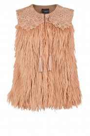 Faux-fur gilet Sono | naturel