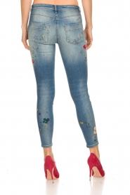 ELISABETTA FRANCHI | Jeans met verf versieringen Ava | blauw  | Afbeelding 5