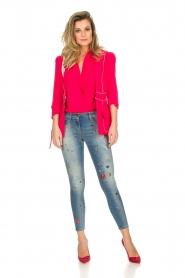 ELISABETTA FRANCHI | Jeans met verf versieringen Ava | blauw  | Afbeelding 2