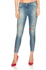 ELISABETTA FRANCHI |  Jeans with paint decorations Ava | blue  | Picture 3