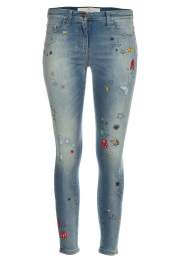 ELISABETTA FRANCHI |  Jeans with paint decorations Ava | blue  | Picture 1