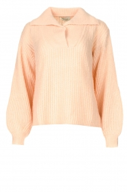 Be Pure |  Knitted sweater with polo collar Lola | nude  | Picture 1
