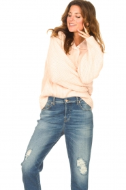 Be Pure |  Knitted sweater with polo collar Lola | nude  | Picture 5
