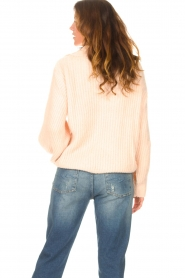 Be Pure |  Knitted sweater with polo collar Lola | nude  | Picture 7