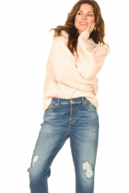 Be Pure |  Knitted sweater with polo collar Lola | nude  | Picture 4