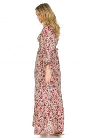 Antik Batik | Bloemenprint jurk Annie | Rood  | Afbeelding 4