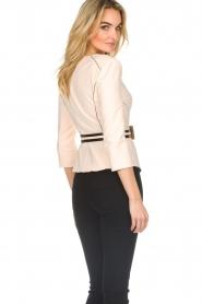 ELISABETTA FRANCHI |  Jacket with decorative seams Ciaga | nude  | Picture 6