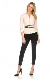 ELISABETTA FRANCHI |  Jacket with decorative seams Ciaga | nude  | Picture 3
