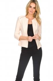 ELISABETTA FRANCHI |  Jacket with decorative seams Ciaga | nude  | Picture 4