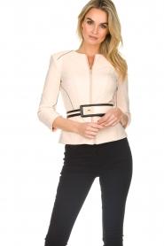 ELISABETTA FRANCHI |  Jacket with decorative seams Ciaga | nude  | Picture 2