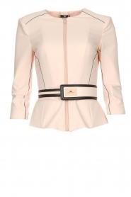 ELISABETTA FRANCHI |  Jacket with decorative seams Ciaga | nude  | Picture 1