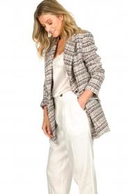 ELISABETTA FRANCHI |  Bouclé coat Burro | multi  | Picture 5