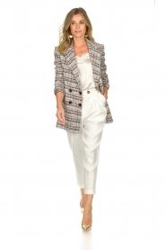 ELISABETTA FRANCHI |  Bouclé coat Burro | multi  | Picture 3