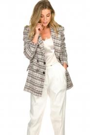 ELISABETTA FRANCHI |  Bouclé coat Burro | multi  | Picture 4