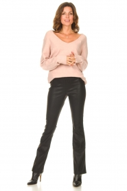 Be Pure    Knitted V-neck sweater Lilly   nude    Picture 3