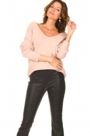 Be Pure    Knitted V-neck sweater Lilly   nude    Picture 4