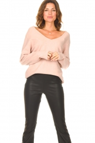 Be Pure    Knitted V-neck sweater Lilly   nude    Picture 2
