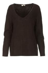 Be Pure |  Knitted V-neck sweater Lilly | black  | Picture 1
