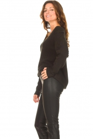Be Pure |  Knitted V-neck sweater Lilly | black  | Picture 5