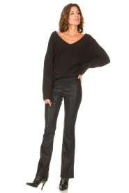 Be Pure |  Knitted V-neck sweater Lilly | black  | Picture 3