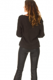 Be Pure |  Knitted V-neck sweater Lilly | black  | Picture 6