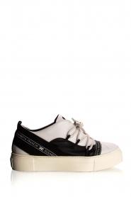 ELISABETTA FRANCHI    Leather sneakers Averi   white    Picture 1