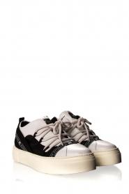 ELISABETTA FRANCHI    Leather sneakers Averi   white    Picture 4