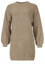 Be Pure |  Knitted dress Micky | taupe  | Picture 1