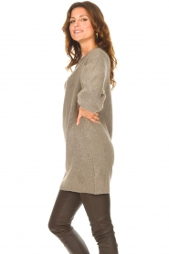 Be Pure |  Knitted dress Micky | taupe  | Picture 5