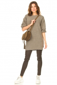 Be Pure |  Knitted dress Micky | taupe  | Picture 3