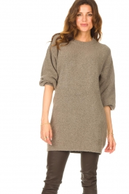 Be Pure |  Knitted dress Micky | taupe  | Picture 4