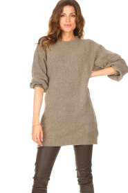 Be Pure |  Knitted dress Micky | taupe  | Picture 2