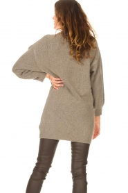 Be Pure |  Knitted dress Micky | taupe  | Picture 6