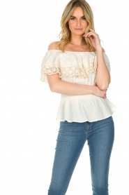 Antik Batik |  Off-shoulder top Julietta | natural  | Picture 4