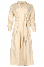 JC Sophie |  Midi dress with belt Elora | beige  | Picture 1