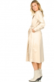 JC Sophie |  Midi dress with belt Elora | beige  | Picture 4