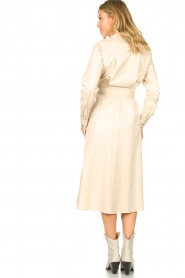 JC Sophie |  Midi dress with belt Elora | beige  | Picture 5
