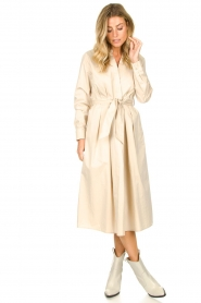 JC Sophie |  Midi dress with belt Elora | beige  | Picture 3