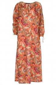 Antik Batik | Maxi-jurk Kalao | oranje/rood  | Afbeelding 1